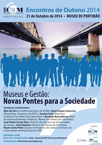 Cartaz onde se vê duas pontes de Portimão