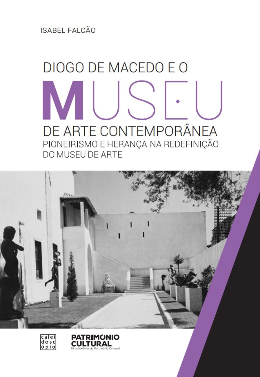 capa do livro que tem imagem a preto e branco do espaço exterior do Museu Nacional de Arte Contemporânea